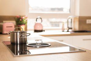 Küchenarbeitsplatte mit BORA-Abzug